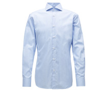 Kariertes Slim-Fit Hemd aus knitterfreier Baumwolle