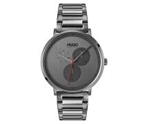 Grau beschichtete Uhr aus Edelstahl