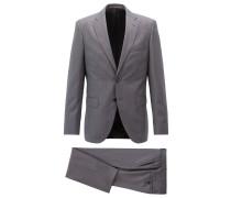 Fein gemusterter Regular-Fit Anzug aus Schurwoll-Serge