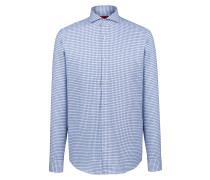 Regular-Fit Karo-Hemd aus Baumwolle