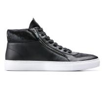 Hightop Sneakers aus Fell und Kunstleder