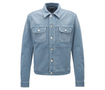 Taillierte Jacke aus farbigem Stretch-Denim