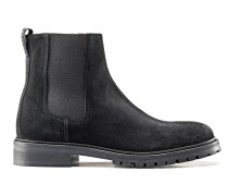 Chelsea Boots aus Veloursleder mit Profilsohle