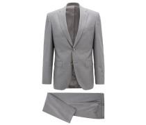 Regular-Fit Anzug aus meliertem Schurwoll-Serge