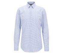 Slim-Fit Hemd aus italienischer Baumwolle
