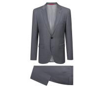 Strukturierter Regular-Fit Anzug aus Schurwolle