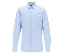 Kariertes Slim-Fit Hemd aus strukturierter Baumwolle