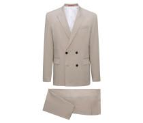 Zweireihiger Oversized Anzug aus Stretch-Baumwolle