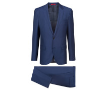 Gemusterter Slim-Fit Anzug aus Schurwolle