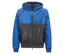 Leichte Hybrid-Jacke aus Material-Mix und Leder