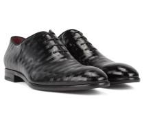 In Italien gefertigte Oxford-Schuhe aus Lackleder