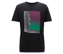 T-Shirt aus gewaschener Pima-Baumwolle