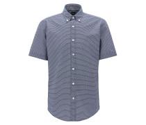 Regular-Fit Hemd aus merzerisierter Baumwolle