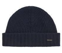 Gerippte Mütze aus Schurwolle