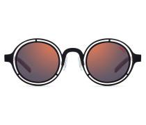 Round sunglasses with matte-black steel frames