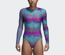 Allover Print Beach Rash Guard Schwimmanzug