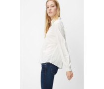 Marc O'Polo Langarm-Bluse optic white