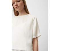 Marc O'Polo Cropped Top clear white