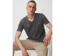 Marc O'Polo T-Shirt gray pinstripe