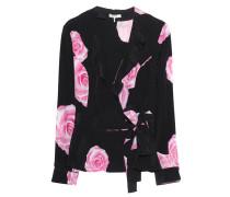 Seiden-Bluse mit Blumen-Muster