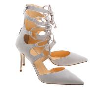 Veloursleder-Stiletto-Heels