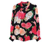 Bluse mit Blumen-Muster