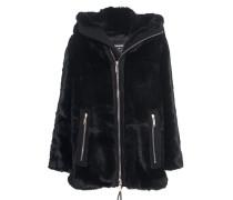 Faux Fur Jacke mit Kapuze
