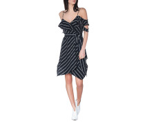 Gestreiftes off-shoulder Kleid
