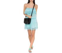 Schulterfreies Mini-Kleid