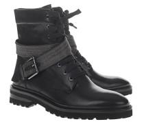 Leder-Boots mit Schnallen-Detail