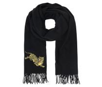 Woll-Schal mit Tiger-Motiv