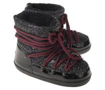 Lack-Boots mit Glitzer-Details
