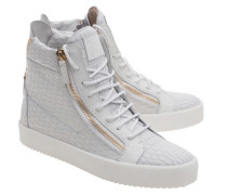 Mittelhohe Leder-Sneakers  // May London Zayn Bianco