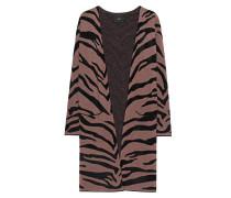 Strick-Cardigan im Tiger-Design