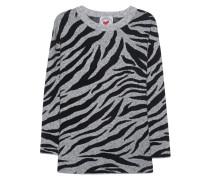 Strickpullover mit Zebra-Muster