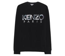Sweatshirt mit Label-Stickerei