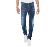 Slim Fit Destroyed Jeans
