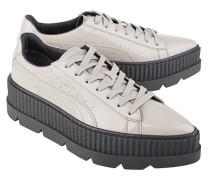Lackleder Sneaker mit Plateau