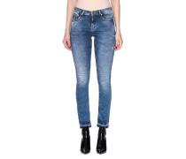 Skinny-Jeans mit Acid-Waschung