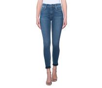 Skinny-Jeans mit Fransen-Details