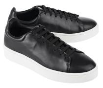 Flacher Leder Sneaker