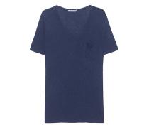 Viskose-T-Shirt mit Brusttasche