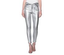 Lederhose im Metallic-Look