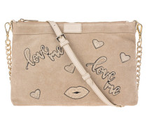 Leder-Tasche mit Love-Patches