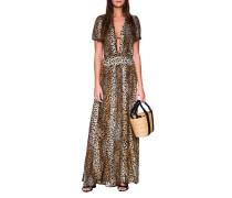 Maxi Kleid mit Leo Muster