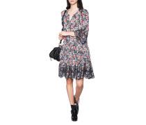Florales Seiden-Stretch Kleid