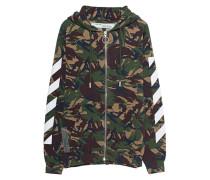 Zipper-Hoodie mit Camouflage-Musterung