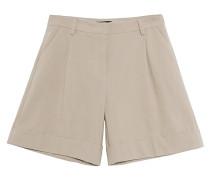 Bundfalten-Shorts mit Leinen-Anteil