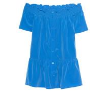 Schulterfreie Seiden-Stretch Bluse