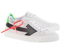 Leder-Sneaker mit Pfeil-Print